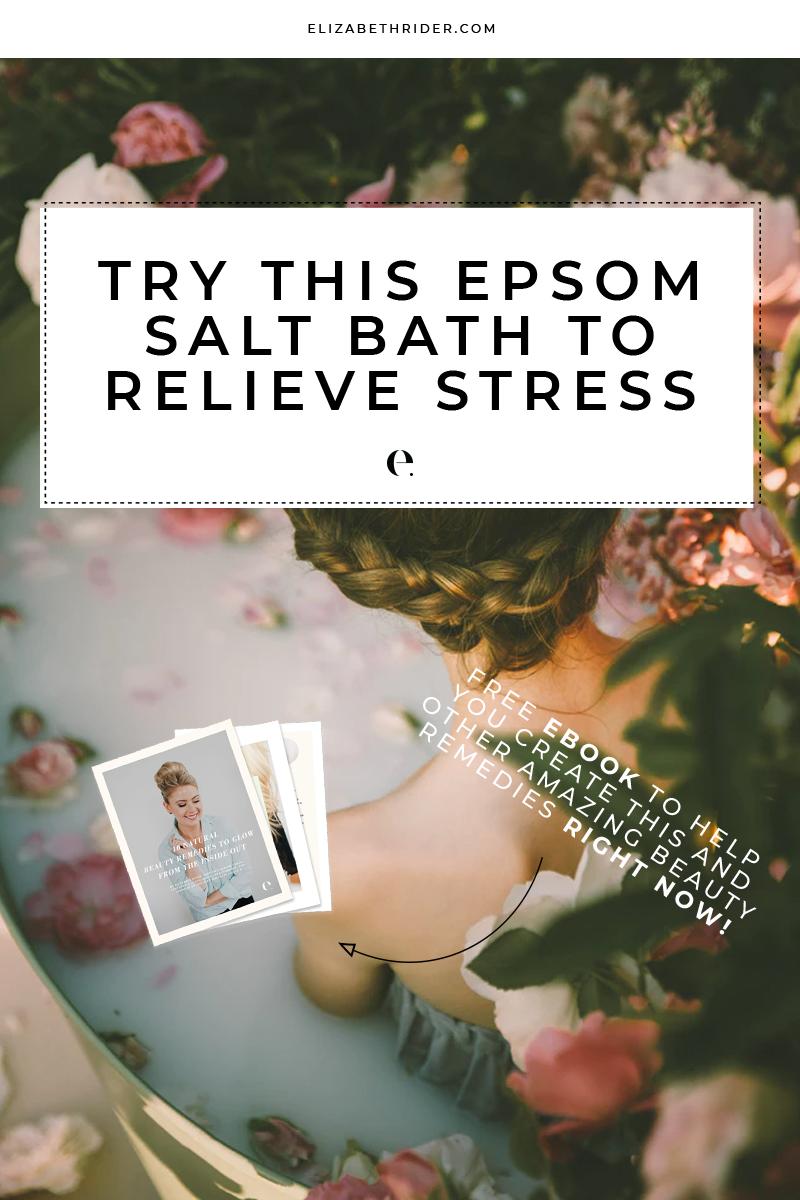 Try This Epsom Salt Bath To Relieve Stress