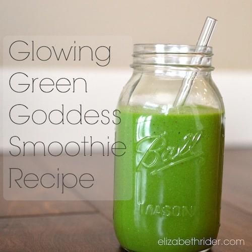 glowing green goddess smoothie
