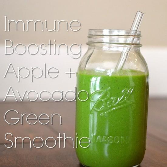 Apple Avocado Green Smoothie Recipe Elizabeth Rider