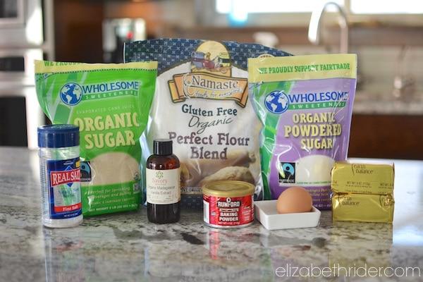 Gluten Free Sugar Cookie Ingredients