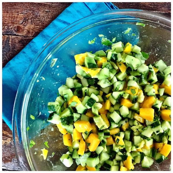 healthy mango avocado cucumber salad elizabeth rider