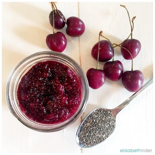 Cherry Chia Seed Jam Recipe Elizabeth Rider