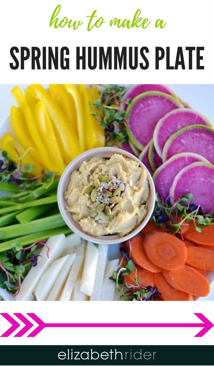 Healthy Spring hummus plate