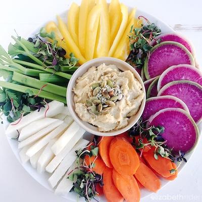 Spring Hummus Plate Elizabeth Rider