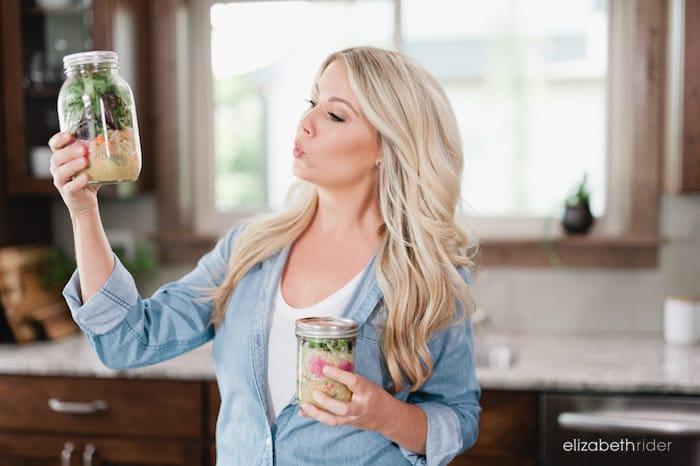 Elizabeth Rider Mason Jar Salads