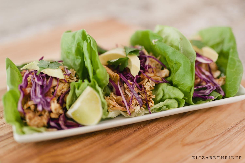 Healthy Slow Cooker Chicken Tacos Easy Delicious Elizabeth