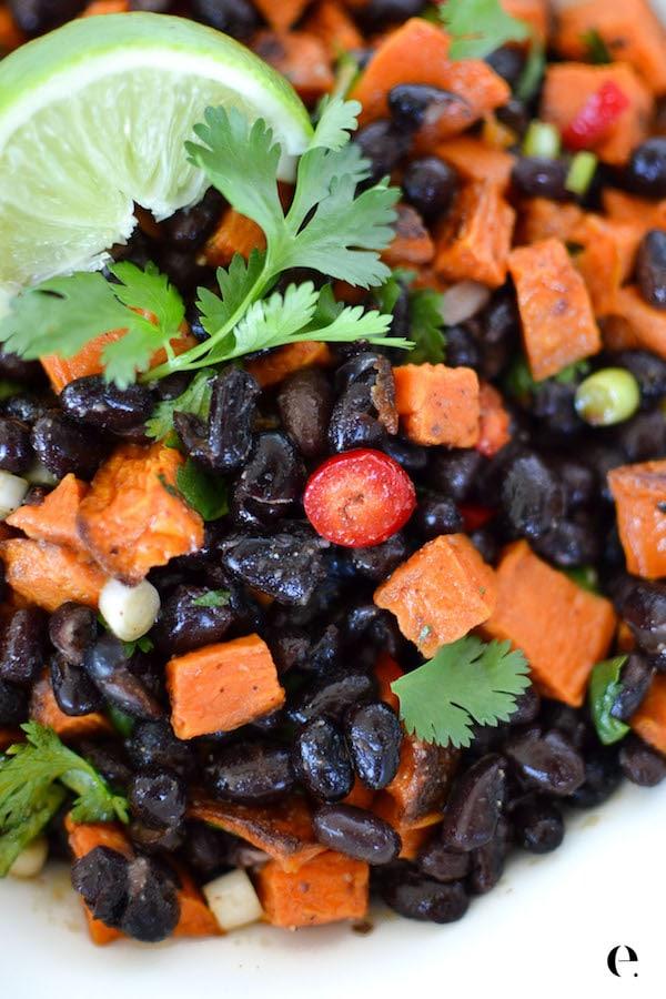 Black Bean & Sweet Potato Salad Elizabeth Rider-600