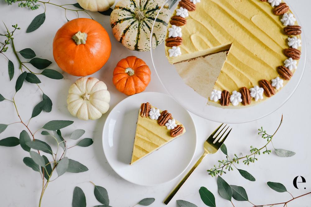 Vegan No-Bake Pumpkin Pie Elizabeth Rider Blog