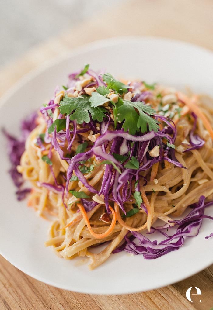 Healthy Thai Peanut Noodles Elizabeth Rider Blog