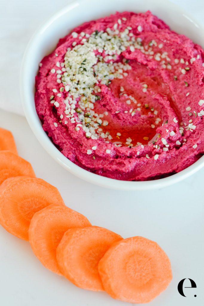Healthy Beet Hummus Elizabeth Rider Blog 2