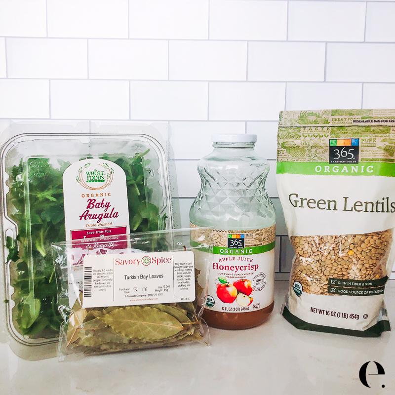 Apple Cider Lentil Salad Ingredients Elizabeth Rider