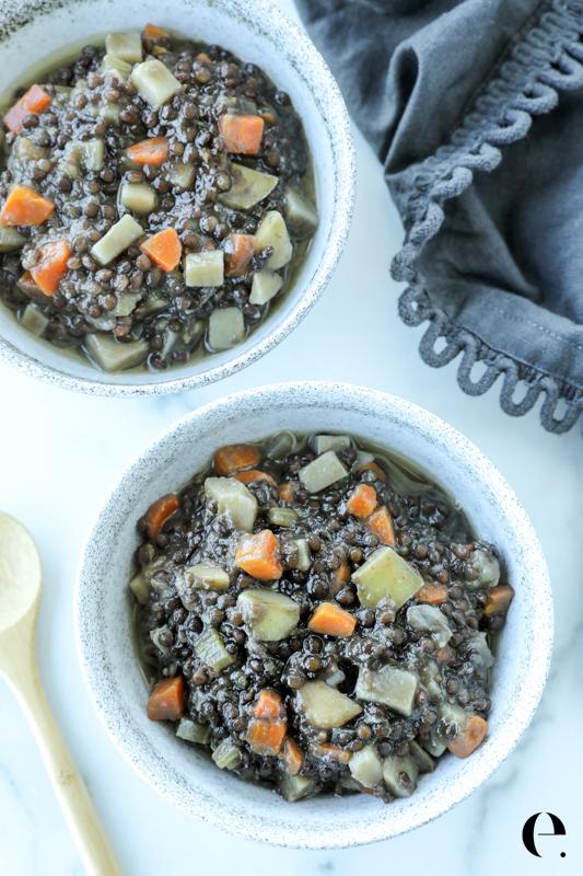 Lentils with Potatoes Recipe Elizabeth Rider-3