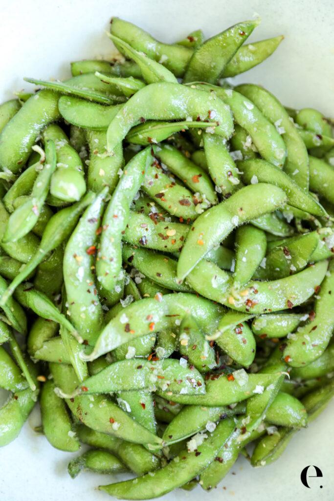 Spicy Garlic Edamame Recipe Elizabeth Rider
